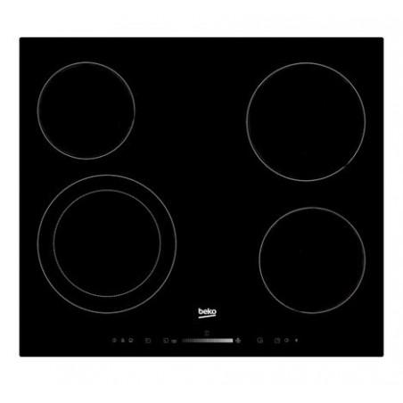 magasin en ligne 9855d 7b755 Dessus verre vitrocéramique plaque de cuisson Beko